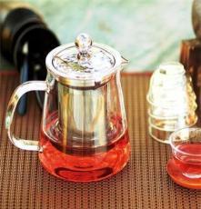 批发玻璃茶壶 花草功夫茶具 不锈钢内胆玻璃泡茶器 冲泡器包邮