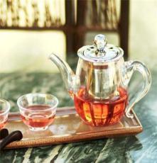 耐热玻璃茶具 花草功夫茶壶不锈钢内胆玻璃壶 一件代发 厂家直销