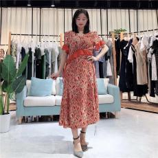 名歌2020年新欧美外贸女装宽松甜美连衣裙
