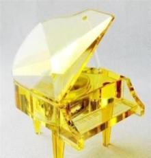 廠家直銷靚麗水晶音樂盒 水晶音樂盒鋼琴 水晶工藝品 來樣定做