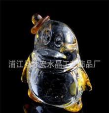 廠家直銷定制可愛水晶QQ企鵝等小禮品