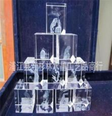 廠家直銷 水晶方體內雕,水晶內雕工藝品,方體內雕,內雕掛件