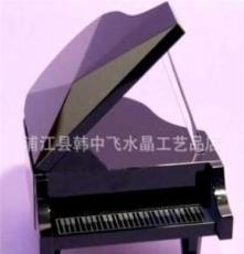 韓中飛水晶 供應高檔精致水晶鋼琴音樂盒 時尚精美