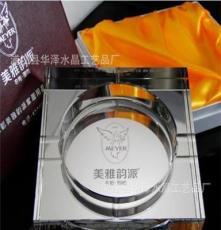 華澤水晶 四方水晶鍍銀煙灰缸 八角鍍銀水晶煙灰缸