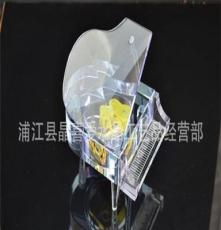 水晶音樂鋼琴,水晶工藝品,水晶擺飾,水晶發聲音樂盒。