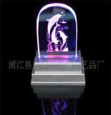 水晶燈座 定做水晶音樂底座 七彩旋轉燈座 水晶旋轉燈座