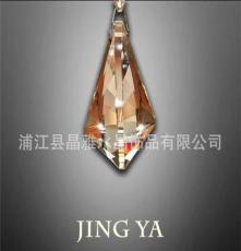 廠家直銷水晶燈掛件 水晶燈飾配件 高頂梨形 牛角 清光