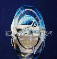 廠家直批水晶煙灰缸上八角汽車4S店定制彩圖款 浦江水晶 饋贈禮品