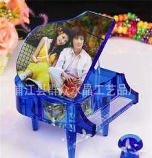 供應水晶影像,水晶彩印音樂盒擺件,個性生日創意DIY禮品