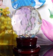 廠家直銷水晶球刻面球 裝潢球水晶飾品 裝飾球點綴擺件,三角面