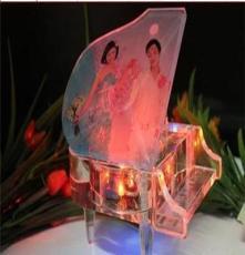 廠家創意禮品 水晶鋼琴mp3 音樂盒 生日結婚禮物結婚紀念日送老婆