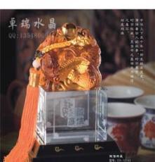 誠信共贏 水晶金屬工藝品 玉璽水晶禮品 送領導 紀念品收藏