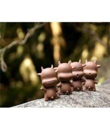 紫砂陶瓷创意 家居工艺饰品 田园可爱卡通动物小件摆设品喷水小牛