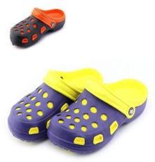 夏季新款热卖 双层双色镂空漏沙男士休闲沙滩洞洞鞋批发JHC2014