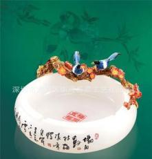 廣東地區琺瑯彩琉璃玉工藝品創意 琺瑯彩圓盤高檔工藝品廠家直銷