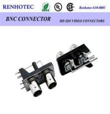 BNC2*1音視頻插頭 全銅BNC多孔射頻同軸連接器