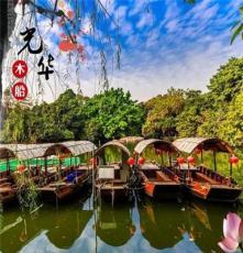 新款热销中式仿古单蓬木船 景区装饰种花船水上观光旅游船乌篷船