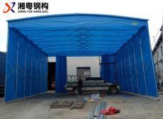 九江武寧雨棚廠定制移動推拉篷膜結構停車棚