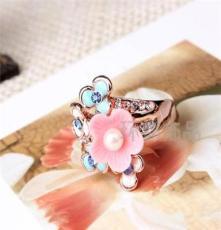 三色可选饰品 水晶钻戒 外贸欧美戒指批发 潮流时尚JZ1714