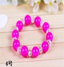 義烏贈品 歐美時尚糖果色彩色水晶珍珠手鏈 2元店批發 F236