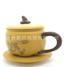 紫砂壶 龙德堂 活陶 泡茶壶 大瓜绵绵 高档礼品杯