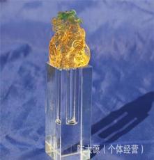 批發生肖馬頭琉璃章 嬰兒紀念品 水晶手腳印 寶寶手腳印 黃色琉璃
