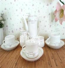 厂家直销高档骨质咖啡茶具
