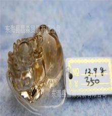 天然 黃水晶 貔貅 雕件