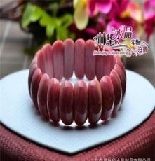 林華水晶 天然紅紋手排 手串 時尚 東海天然水晶半成品批發