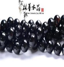 林華水晶 黑瑪瑙128面 散珠 手鏈項鏈串珠 東海天然水晶批發
