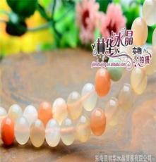 林華水晶 天然彩月光 圓珠 散珠 東海天然水晶半成品批發