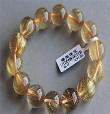緣美珠寶 巴西天然發晶石手鏈 天然水晶石手鏈 15mm 正品 超值
