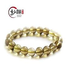 批發天然黃水晶手鏈 頂級收藏巴西進口 男女款時尚韓版 波西米亞