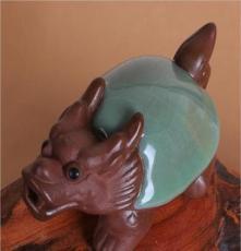 特價 茶具茶盤套裝擺件 精品 陶瓷紫砂哥窯開片可養茶寵 招財龍龜