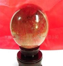 一物一圖 天然茶發晶球11.3l厘米,水晶擺件,水晶禮品