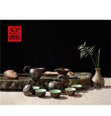 厂家批发创意茶具礼品青釉茶具茶具特色茶具竹报平安tz102