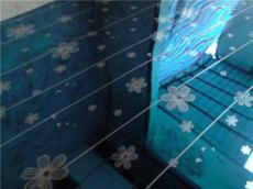 佛山不锈钢卫浴蚀刻花板,宝石蓝木棉花蚀刻板