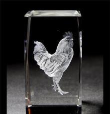 水晶內雕3D立體十二生肖工藝品創意擺件 情人節禮品旅游紀念品