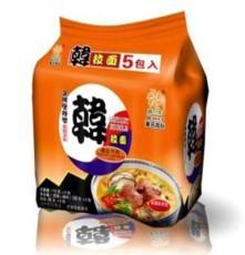 韩国进口食品 韩拉面盛之和五连包香茹牛肉方便面