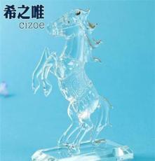 創意水晶拉絲馬 水晶馬擺件 工藝裝飾品 馬年禮物 商務禮品