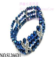 熱賣手飾 車輪切割水晶+X型鉆 水晶串珠手飾廠家 支持小額混批