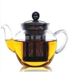 大蘋果鋼漏耐熱玻璃茶壺 玻璃茶具花茶壺不銹鋼內膽茶壺 直火加熱