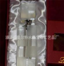 批量 供應水晶香水瓶 水晶汽車用品 水晶長方體汽車香水瓶
