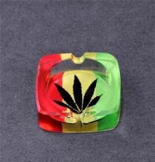 煙灰缸  正方形水晶煙灰缸 創意水晶煙缸精品時尚 可定制