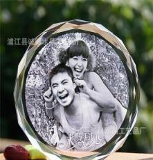 照片制作 擺臺 送老婆老公 diy創意實用生日禮物 水晶內雕定制