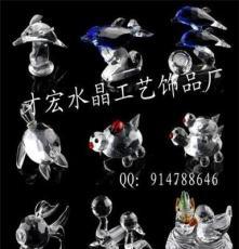 廠家直銷大型水晶海豚 鐘表擺件