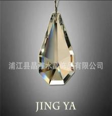 廠家直銷水晶燈掛件 水晶燈飾配件 清光 雙邊梨形 琴形