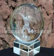 厂家直销水晶足球3D内雕 送客户比赛礼品 纪念品 可定制