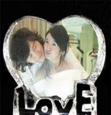 專業批發 水晶LOVE冰山 個性定制 送情侶創意結婚紀念 送同學朋友