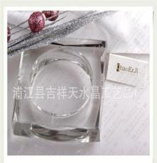 廠家優質供應正品k9水晶棱煙灰缸,高檔水晶煙缸